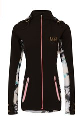 Elle Sport Sleek Lightweight Jacket With Mesh Detail Black