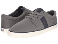 Polo Ralph Lauren Halmore Charcoal Grey Newport Navy Canvas Pu Men's Lace Up Casual Shoes Gray