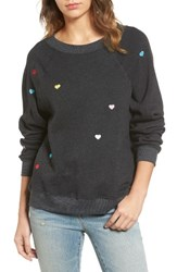 Wildfox Couture Women's Sommers Sweater Heart Embroidered Pullover