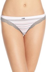 Women's Felina 'Inviting' Lace Trim Thong