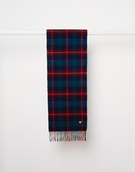 Lyle And Scott Tartan Scarf Navy