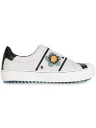 Fendi Flower Applique Sneakers White