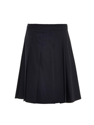 Jil Sander Pleated Knee Length Wool Blend Skirt