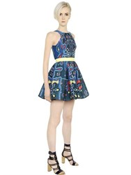 Peter Pilotto Printed 3D Waffle Textured Dress