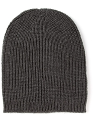 P.A.R.O.S.H. Ribbed Knit Beanie Grey
