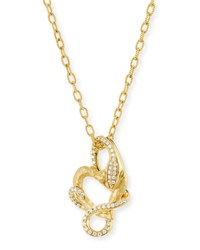 Albert Malky 18K Yellow Gold Snake Pendant Necklace With Diamonds