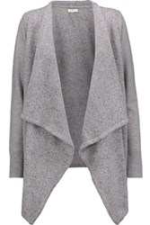 Joie Starley Marled Knitted Cardigan Gray
