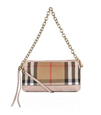 Burberry Shoes And Accessories Small Leather And House Check Clutch Bag Female Rose