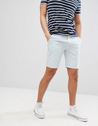 Solid Slim Fit Chino Short In Light Blue Blue