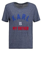 Eleven Paris Famy Print Tshirt Burn Out Navy Dark Blue