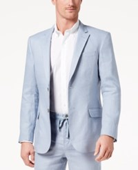 Tasso Elba Men's Core Linen Sport Coat Created For Macy's Dusty Blue
