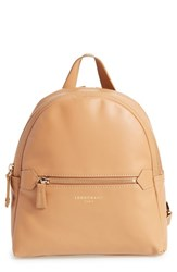 Longchamp 2.0 Small Leather Backpack Beige Natural