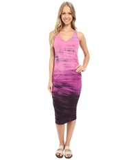 Hard Tail Double Trouble V Neck Dress Rainbow Horizon 24 Women's Dress Pink