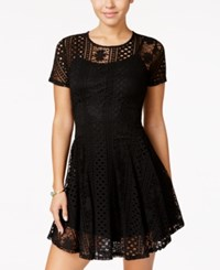 American Rag Lace Fit And Flare Dress Only At Macy's Black