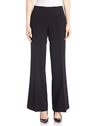 Lafayette 148 New York Finesse Crepe Kenmare Flare Pants Black