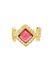 Sabine G 18K Yellow Gold Domi Rosa Ring Red