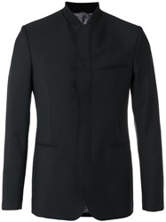 Kenzo Fitted Collarless Blazer Black