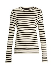 A.P.C. Novea Cotton Jersey Top Navy White
