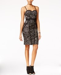 Material Girl Juniors' Lace Metallic Bodycon Dress Only At Macy's Black Combo