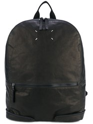 Maison Martin Margiela Zip Detail Backpack Men Calf Leather One Size Black