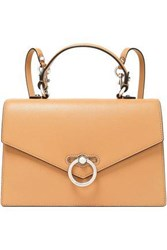 Rebecca Minkoff Woman Convertible Pebbled Leather Backpack Camel