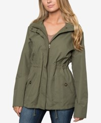 O'neill Juniors' Wendy Hooded Anorak Jacket Green