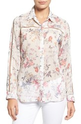 Kut From The Kloth Women's Swat Fame Eve Floral Print Blouse