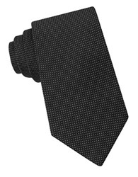 Michael Kors Micro Dotted Silk Tie Charcoal