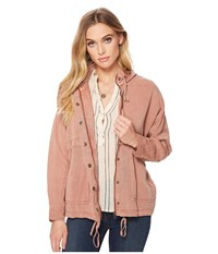 Lucky Brand Blush Hooded Jacket Blush Women's Coat Pink