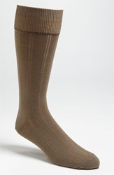 Men's Nordstrom Over The Calf Wool Socks Taupe