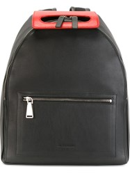 Jil Sander Contrast Top Handle Backpack Black