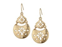 The Sak Pierced Double Drop Earrings Gold Earring