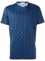 Salvatore Ferragamo Bike Print T Shirt Blue