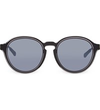 Kris Van Assche Kva79 Curved Keyhole Sunglasses Light Grey And Black