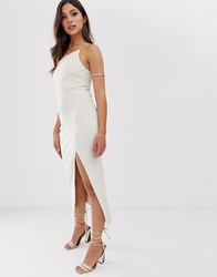 Bec And Bridge Dominique Asymmetric Midi Dress Cream