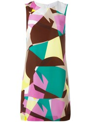 M Missoni Abstract Print Shift Dress Brown