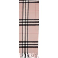 Burberry Pink Cashmere Giant Icon Scarf