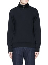 Acne Studios 'Fuji Preppy' Zip Collar Sweatshirt Black