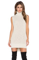 Michael Stars Sleeveless Turtleneck Tunic Tan
