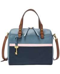 Fossil Rachel Multi Small Satchel Blue Multi