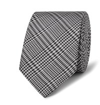 Lanvin 5.5Cm Prince Of Wales Checked Silk Tie Black