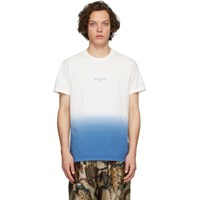 Stella Mccartney White And Blue Tie Dye T Shirt