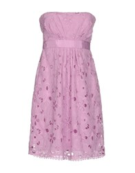 Guess By Marciano Short Dresses Lilac