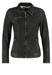 Freaky Nation Cloudy Leather Jacket Black