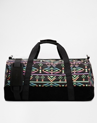 Mi Pac Duffle Bag In Aztec Neon Print 004Black