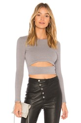 Lovers Friends X Revolve Clea Top Gray
