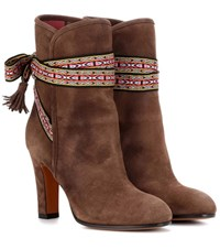 Etro Suede Ankle Boots Brown