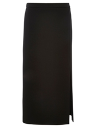 Viyella Column Crepe Skirt Black