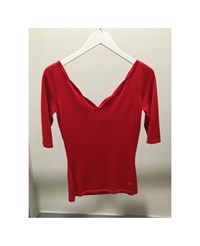 Christian Dior Christian Dior Top Red Cotton