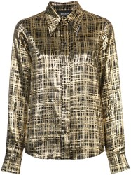 Rochas Checked Shirt Yellow And Orange